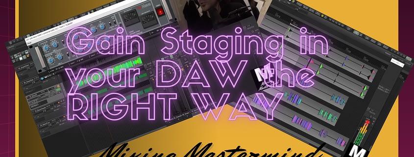 gain staging daw